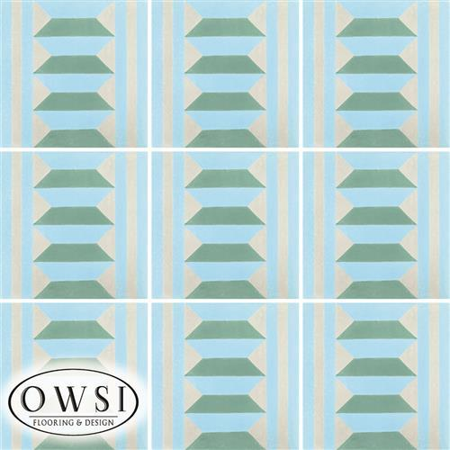 OWSI Quick Ship Options Harlequin Border S-293 Azul Caribe S-120 Aqua  S-165 Gris Mexico