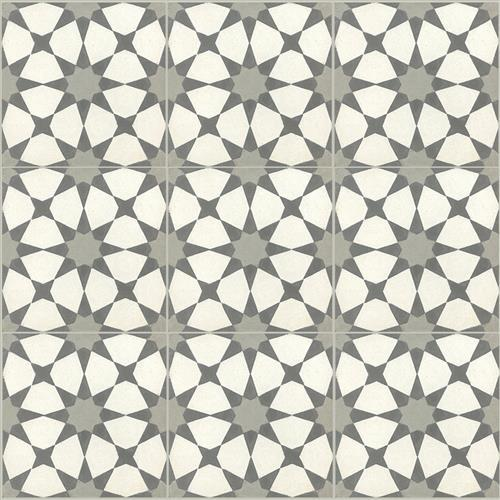 OWSI Cement Tile Collection Atlas 01 White Background Gray Center Star Oxford Spikes
