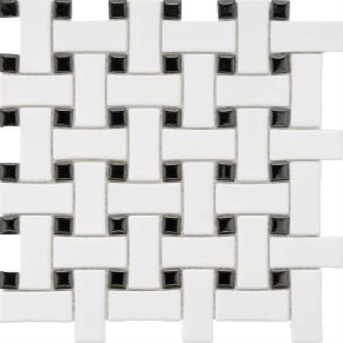 Basket Weave White/ Black