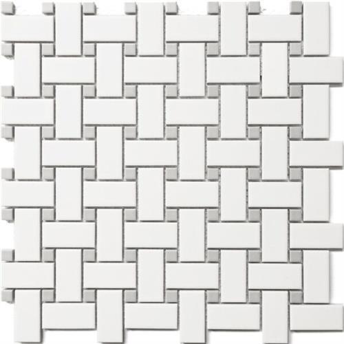 Basket Weave White/ Grey