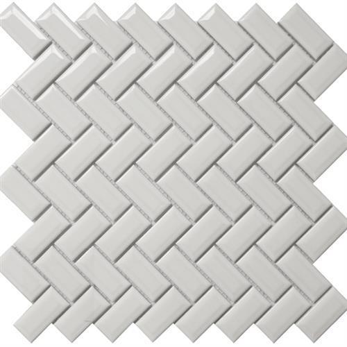 Diamond Herringbone White