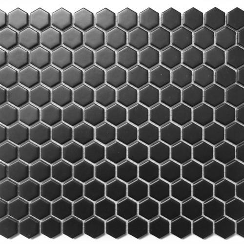 Chesapeake Mosaics 1X1 Hexagon Matte Black