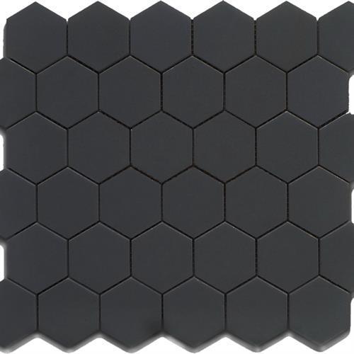 2x2 Hexagon Matte Black