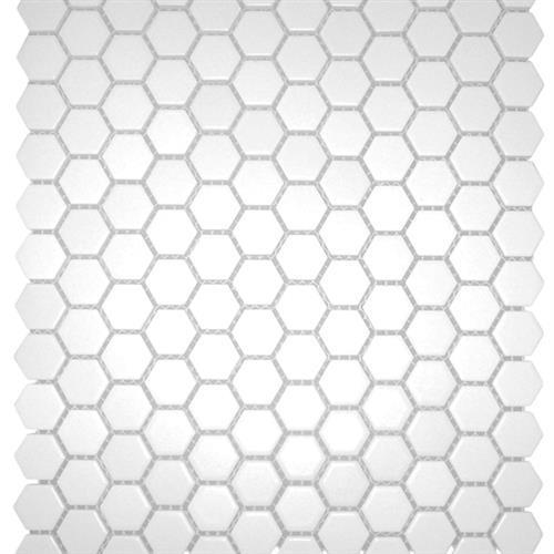 1x1 Hexagon Matte White