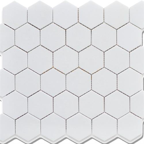 2x2 Hexagon Matte White