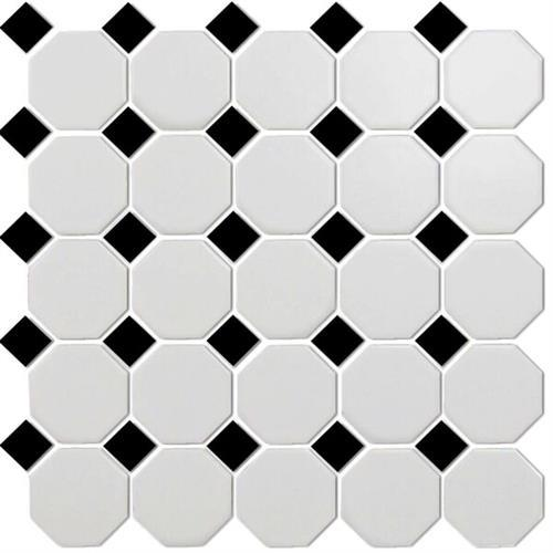 Octagon & Dot White/ Black