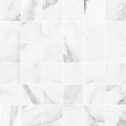 Swatch for White   Mosaic Unpolished flooring product