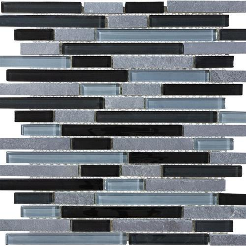 Slate Glass Black Timber Linear Blend