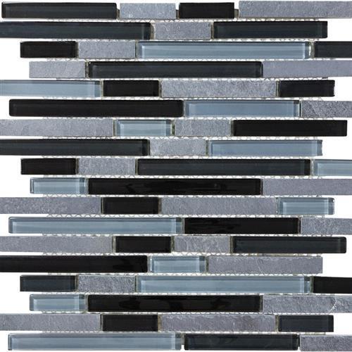 Slate Glass Black Timber Linear Blend