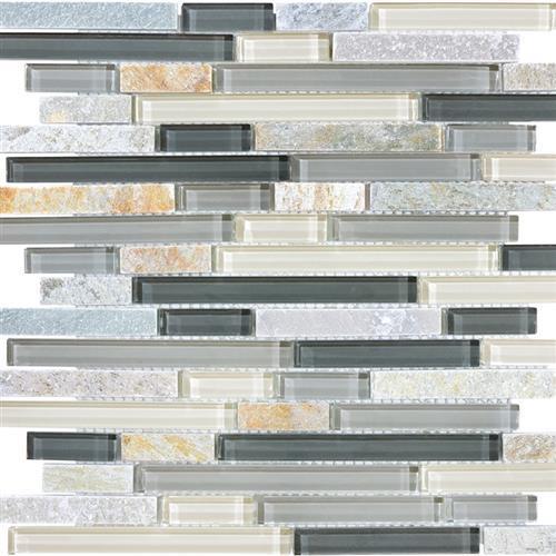 Slate Glass Silver Aspen Linear Blend