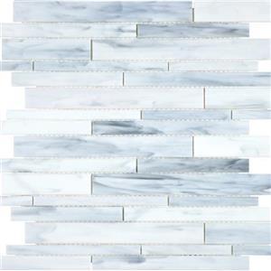 GlassTile OrnamentalGlass OG-CAR-Random CarraraRandomStrip