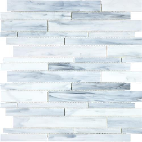 Ornamental Glass Carrara Random Strip