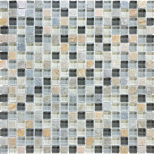 Slate Glass Blend Silver Aspen - Mosaic
