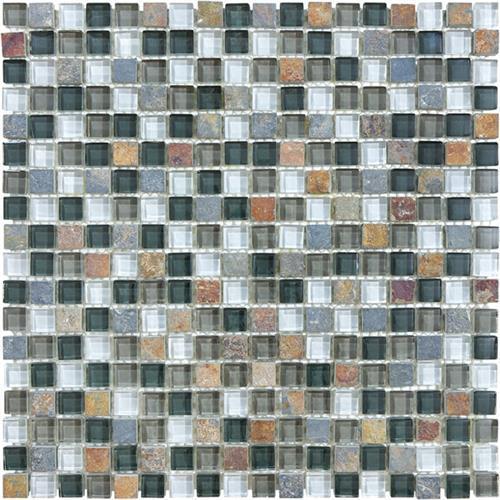 Slate Glass Blend Smoky Mica - Mosaic