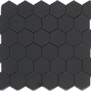 GlassTile ChesapeakeMosaics CM-BH-2x2 BlackHexagon