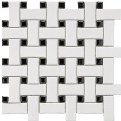 Chesapeake Mosaics Black White Basketweave