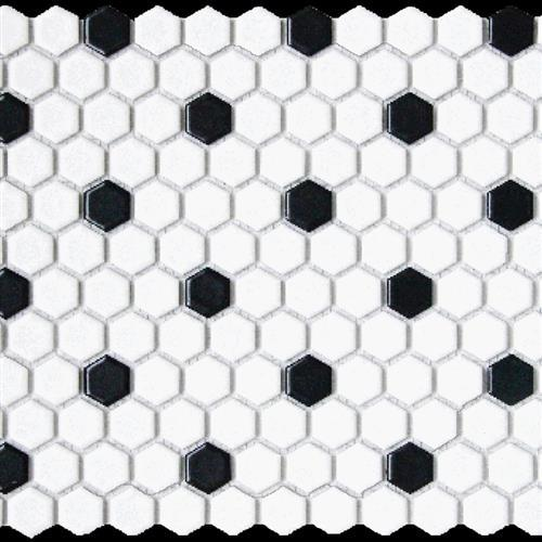 Chesapeake Mosaics White/Black Hexagon