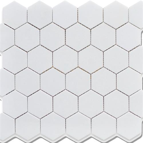 Chesapeake Mosaics White Hexagon 2X2