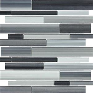 GlassTile FusedGlass FG-CA-Random Carbon