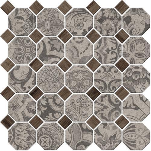 Rhetoric Eloquent Grey - Octagon Mosaic