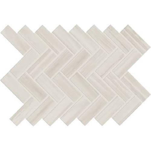 White - Herringbone