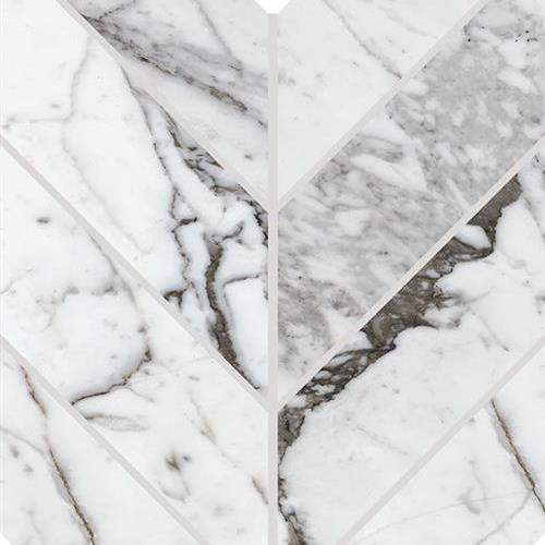 Marble Attach Lavish Pearl Arabesque - 7X14 MA72