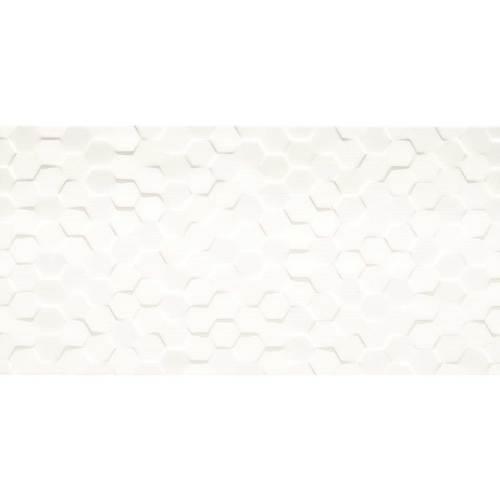 Origami White Hexagon 12x24