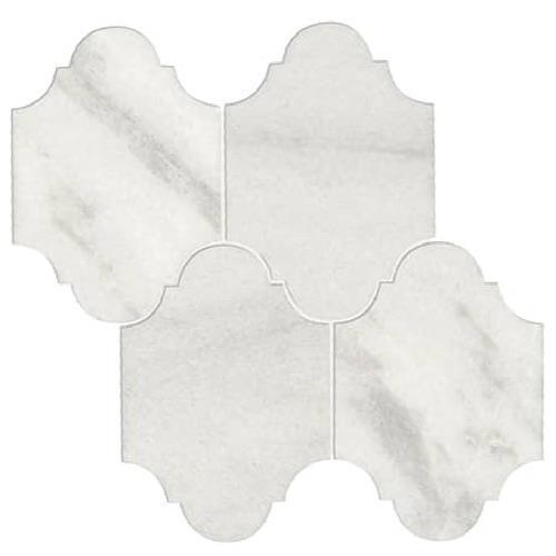 Parksville Stone Yukon White Marble - 12X12 Brick