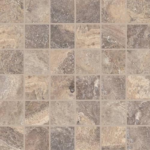 Parksville Stone Denali Peak Travertine - 2X2 Mosaic