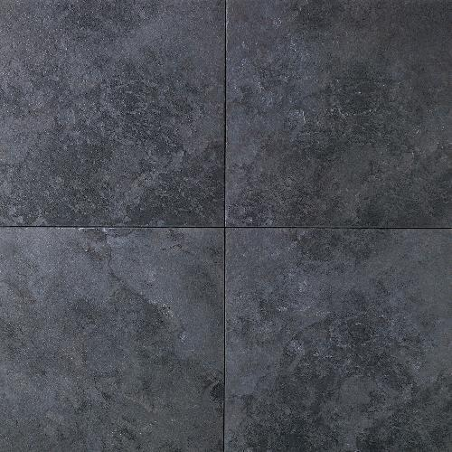DalTile Continental Slate Asian Black X Ceramic Porcelain Tile - 6x6 black floor tile
