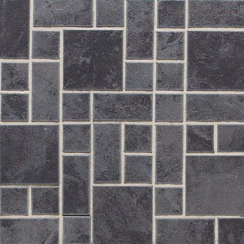 Asian Black Random Block Mosaic 3x3