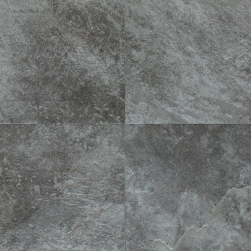 DalTile Continental Slate English Grey X Ceramic Porcelain Tile - 6x6 black floor tile