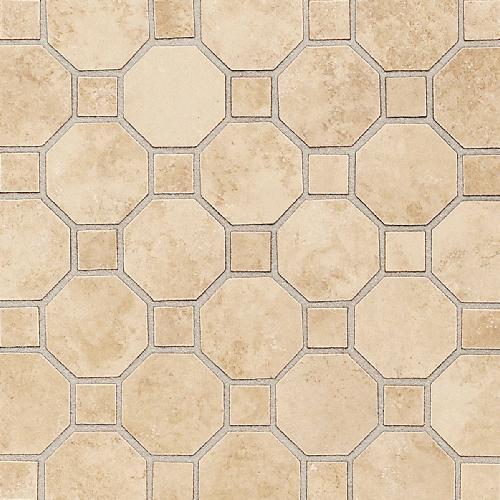 Salerno Nubi Bianche Octagon  Dot Mosaic 2X2 SL81