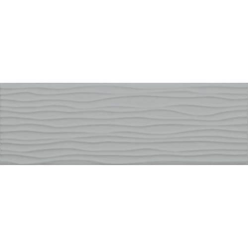 Modern Dimensions in Matte Desert Grey Wave Tile 4.25x12.75 - Tile by Daltile