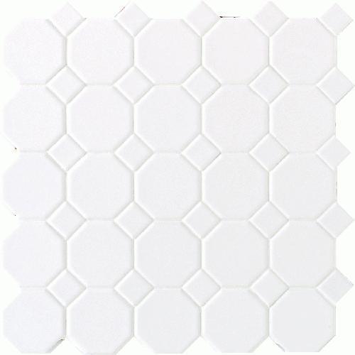 Octagon  Dot Matte White With 01 White Matte Dot 2X2 6501