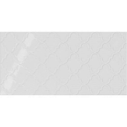Stylish White Arabesque 12x24