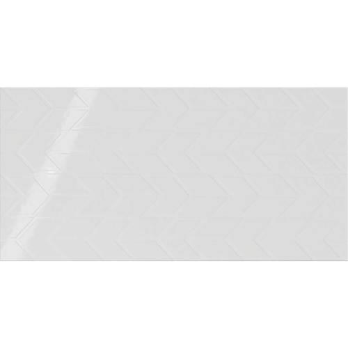 Stylish White Chevron 12x24