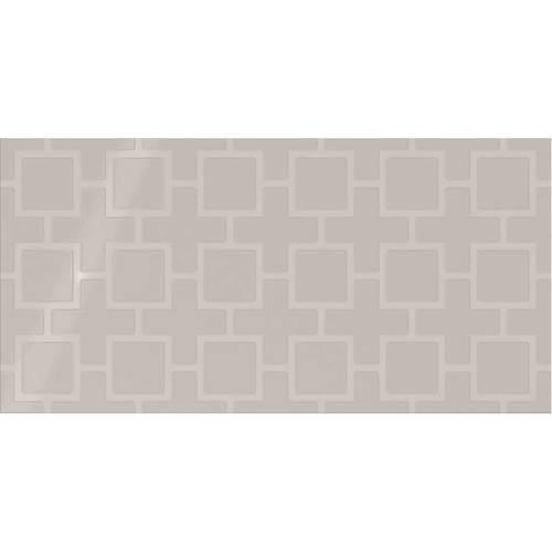 Soft Gray Square Lattice 12x24