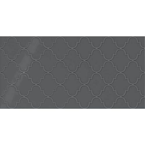 Deep Gray Arabesque 12x24