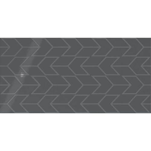 Deep Gray Chevron 12x24