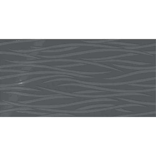 Deep Gray Brushstroke 12x24
