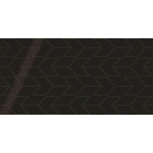 Black Chevron 12x24