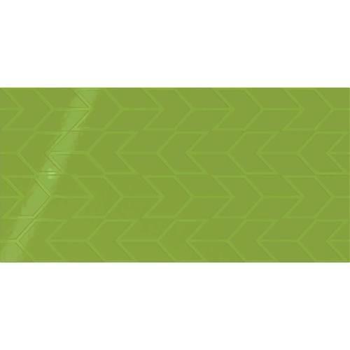 Vivid Green Chevron 12x24