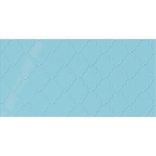 Crisp Blue Arabesque 12x24