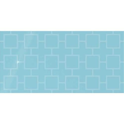 Crisp Blue Square Lattice 12x24