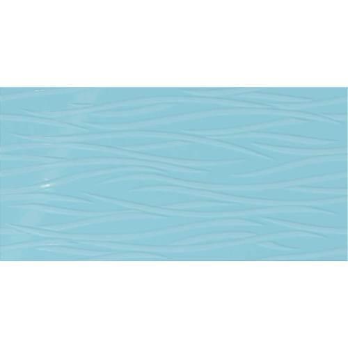 Crisp Blue Brushstroke 12x24