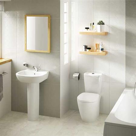 Showscape Stylish White Arabesque 12X24 SH09 1