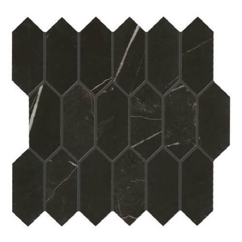 Marble Attache Nero - Hexagon