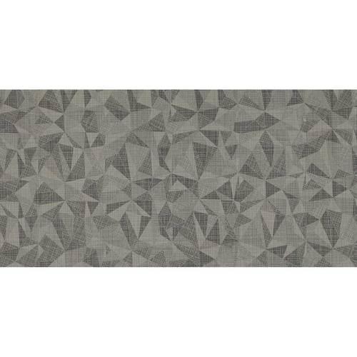 Fabric Art Modern Kaleidoscope Ashen Steel Prism 12X24 MK72