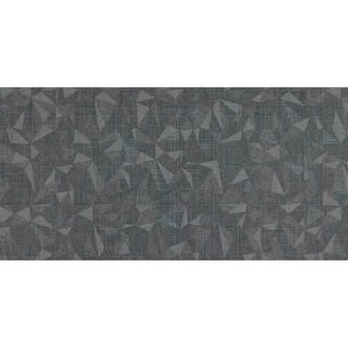 Fabric Art Modern Kaleidoscope Midnight Steel Prism 12X24 MK73